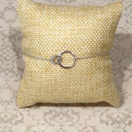 Bracelet argent 925 anneaux entrelacés