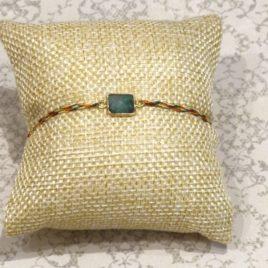 Bracelet argent 925 et émeraude