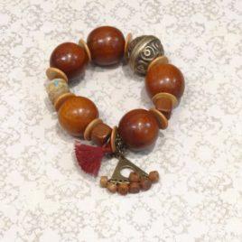 Bracelet ethnique bois de bayong