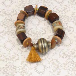 Bracelet ethnique en bois de kamagong