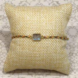 Bracelet argent et labradorite