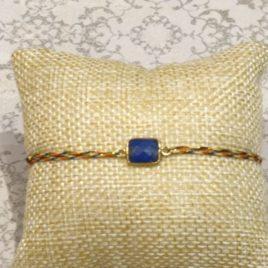 Bracelet argent 925,et lapis-lazuli