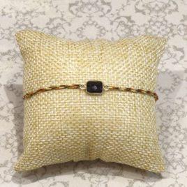 Bracelet argent 925 et onyx