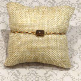 Bracelet argent 925 et quartz fumé
