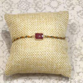 Bracelet argent 925 et rubis