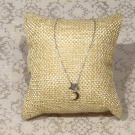 Collier argent 925 étoile et croissant de lune