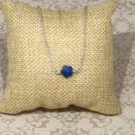 Collier argent et lapis-lazuli