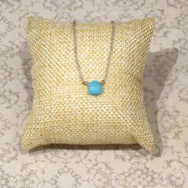 Collier argent 925 et turquoise