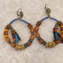Boucles d'oreilles d'inspiration africaine