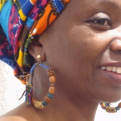 Boucles d'oreilles bois et perles artisanales