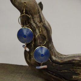 Boucles d'oreilles sodalite