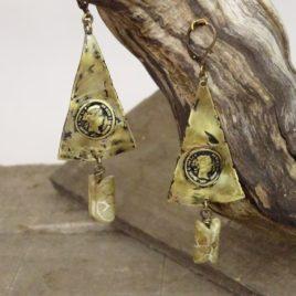 Boucles d'oreilles rustiques et Jade