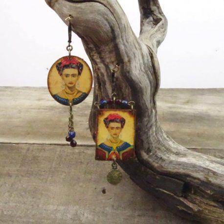 Boucles d'oreilles Frida Khalo