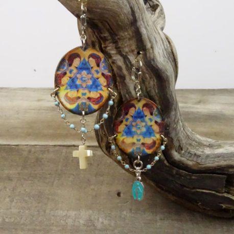 Boucles d'oreilles Vierge Marie (3)