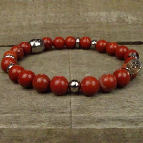 Bracelet jaspe rouge (2)