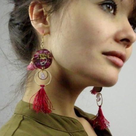 Boucles d'oreilles carnaval à Limoux