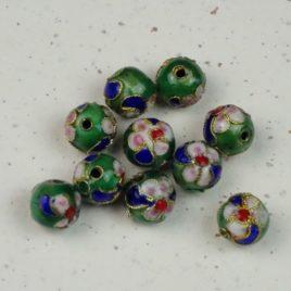 Perle émail cloisonné 10 mm de diamètre