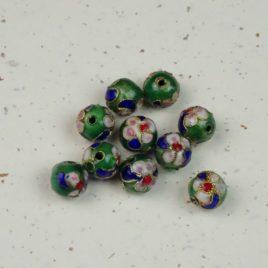 Perle émail cloisonné 8 mm de diamètre