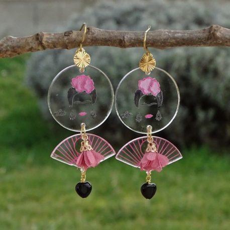 Boucles d'oreilles Frida Kahlo Lm bijoux (3)
