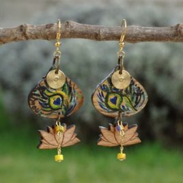 Boucles d'oreilles fleurs de lotus