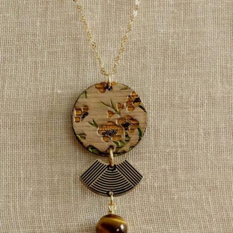 Collier fleurs de cerisier Lm bijoux