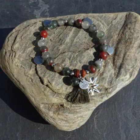 Bracelet agate et acier (3)