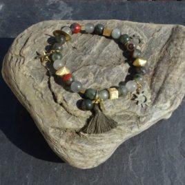 Bracelet agate multicolore