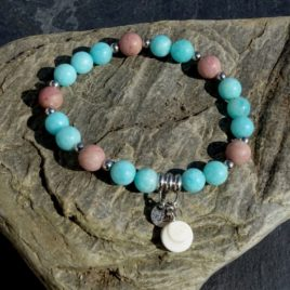 Bracelet amazonite et rhodonite