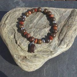 Bracelet bronzite et bois de bayong