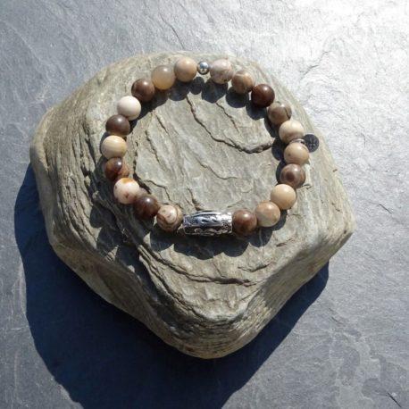 Bracelet jaspe brun-beige (4)