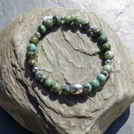Bracelet homme turquoise d'Afrique